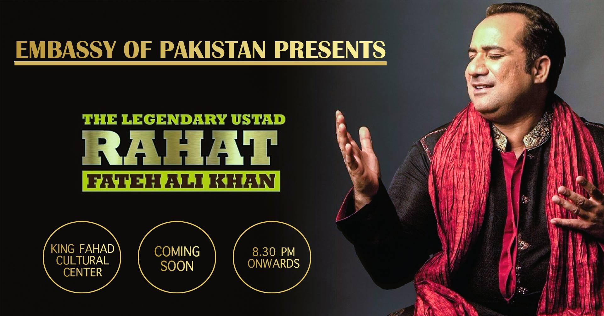 Pakistan Embassy Postponed Live Concert of Rahat Fateh in Riyadh