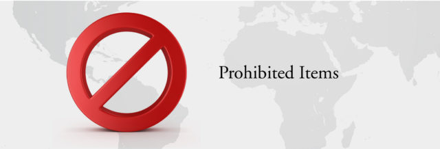 prohibited items in Saudi Arabia