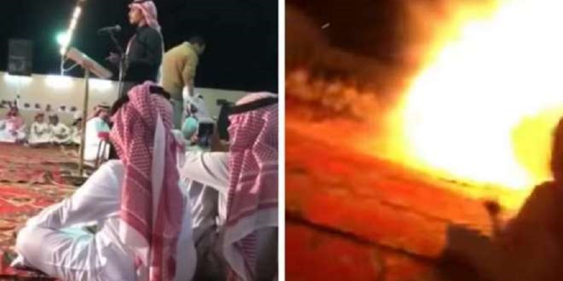 Video: Cigarette Causes Explosion at the Wedding Party in Saudi Arabia