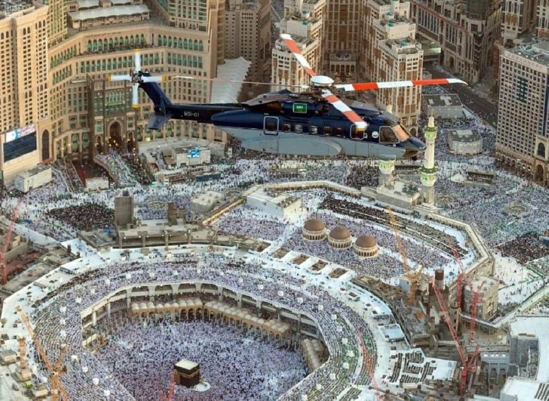 The authorities of Makkah keeping eye on the Haram from sky