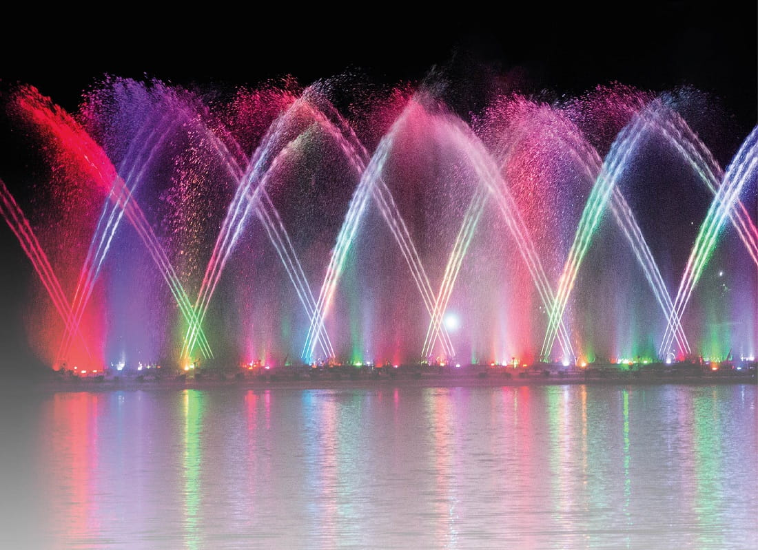Saudi Arabia inaugurated world's highest dancing fountain in Riyadh