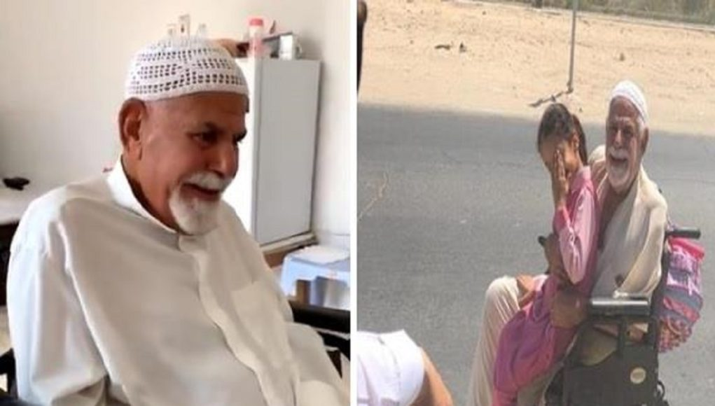 A Saudi man gift a car to help the old man with an elderly daughter