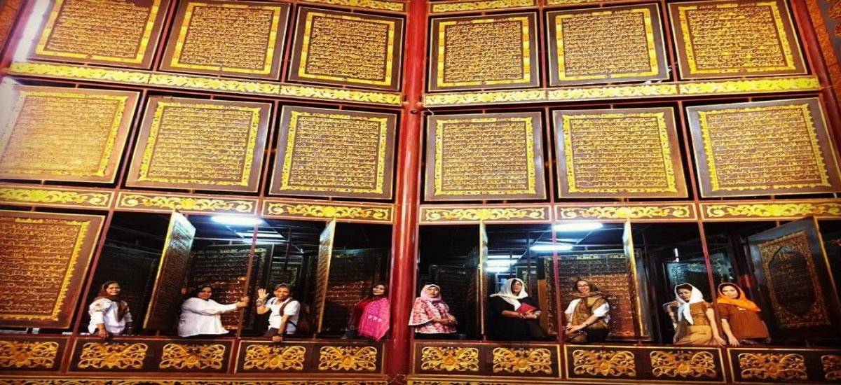 The World's largest wooden Quran is attracting visitors
