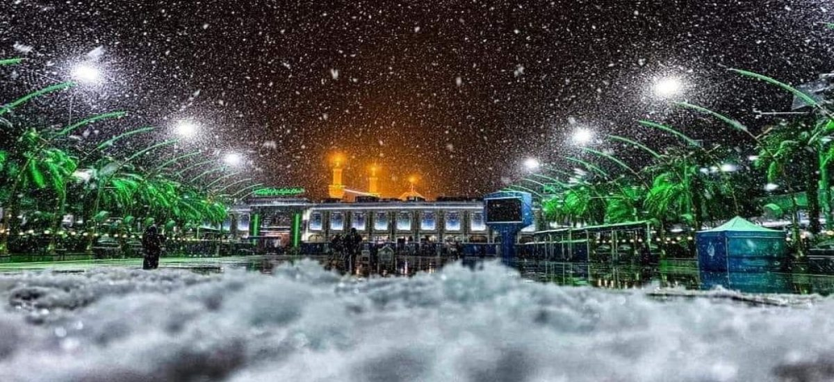 Pictures: Karbala Gets its Second Snowfall in 100 Years!